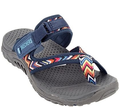 4fb65c819369 Skechers Thong Sandals with Adjustable Strap - Zig Swag - A276908 — QVC.com