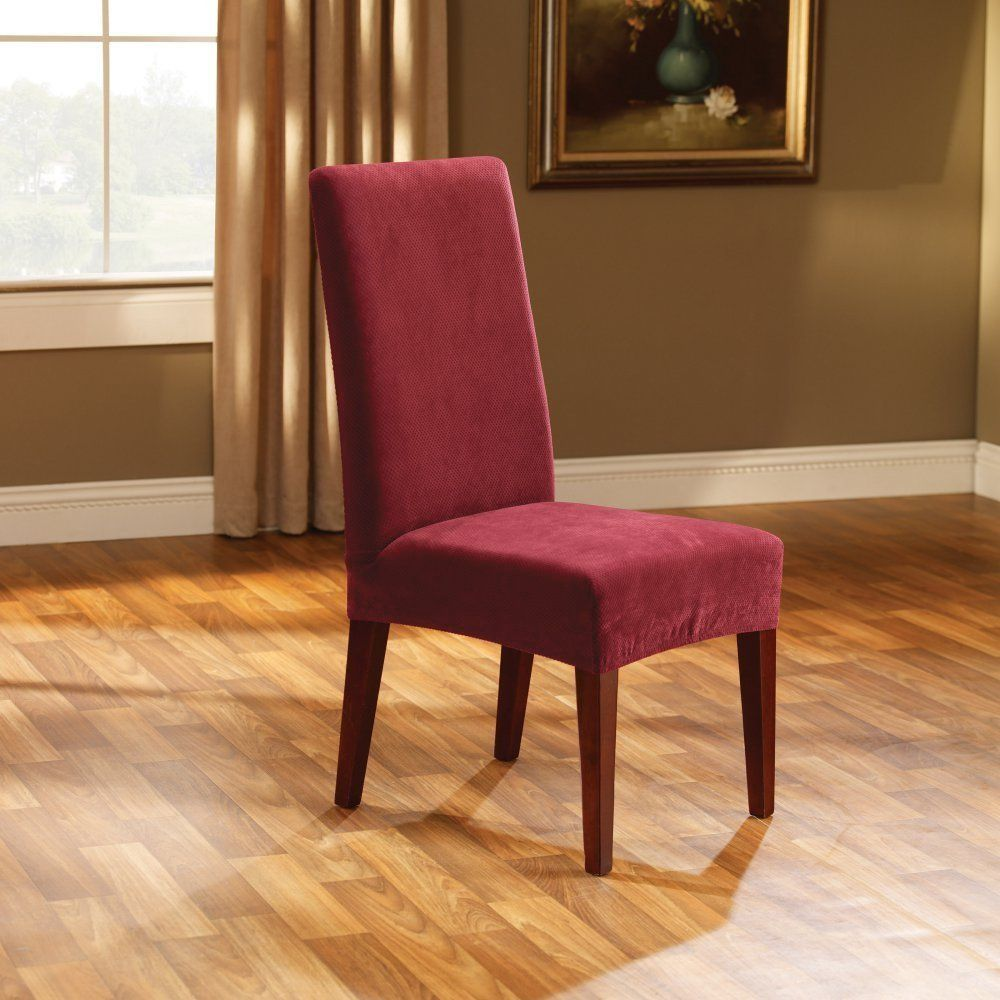 Sure Fit Stretch Pique Short Dining Room Chair Slipcover  Best Amazing Stretch Covers For Dining Room Chairs Design Inspiration