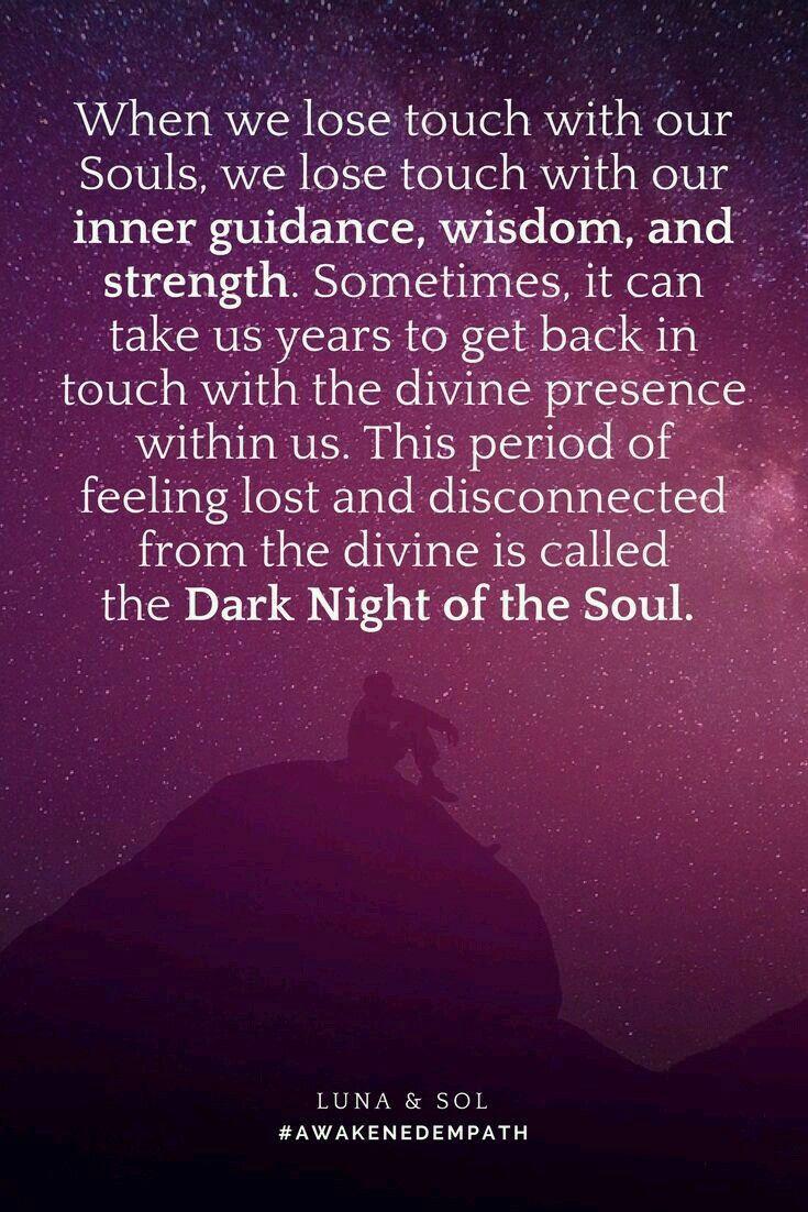 Pin By R Verona On Spirituality Dark Night Soul Quotes Empath