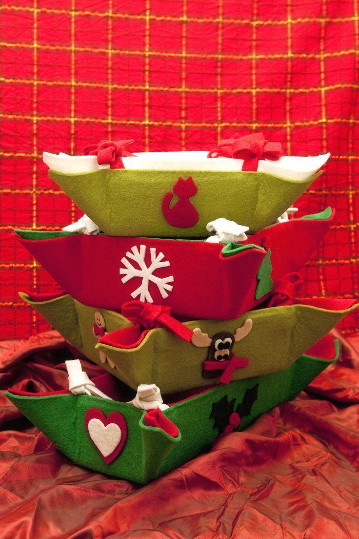 Regali Di Natale In Feltro Fai Da Te.Portapane Fetr Regali Di Natale Fai Da Te Regali Di Natale E