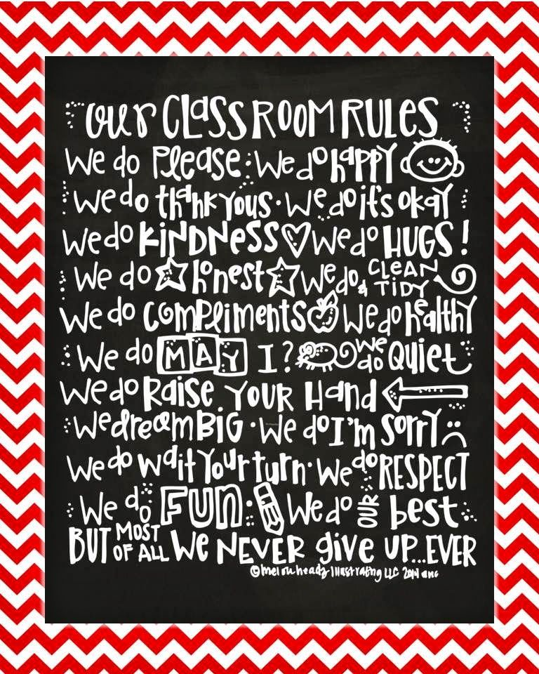 Love this class rules poster!