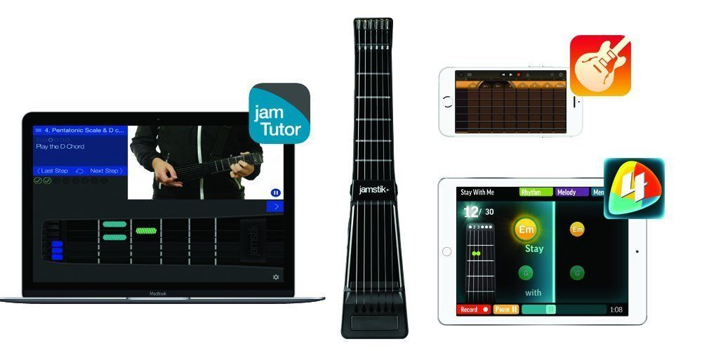 Jamstik Black Portable App Enabled MIDI Electric Guitar