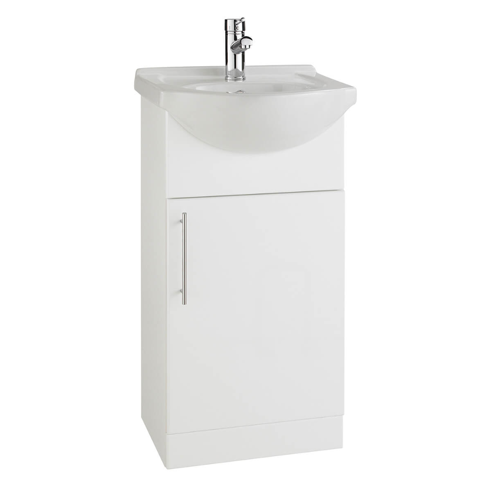 Kartell K Vit Impakt Floor Standing Single Door Unit And Basin 450mm In 2020 Single Doors Basin Bathroom Design