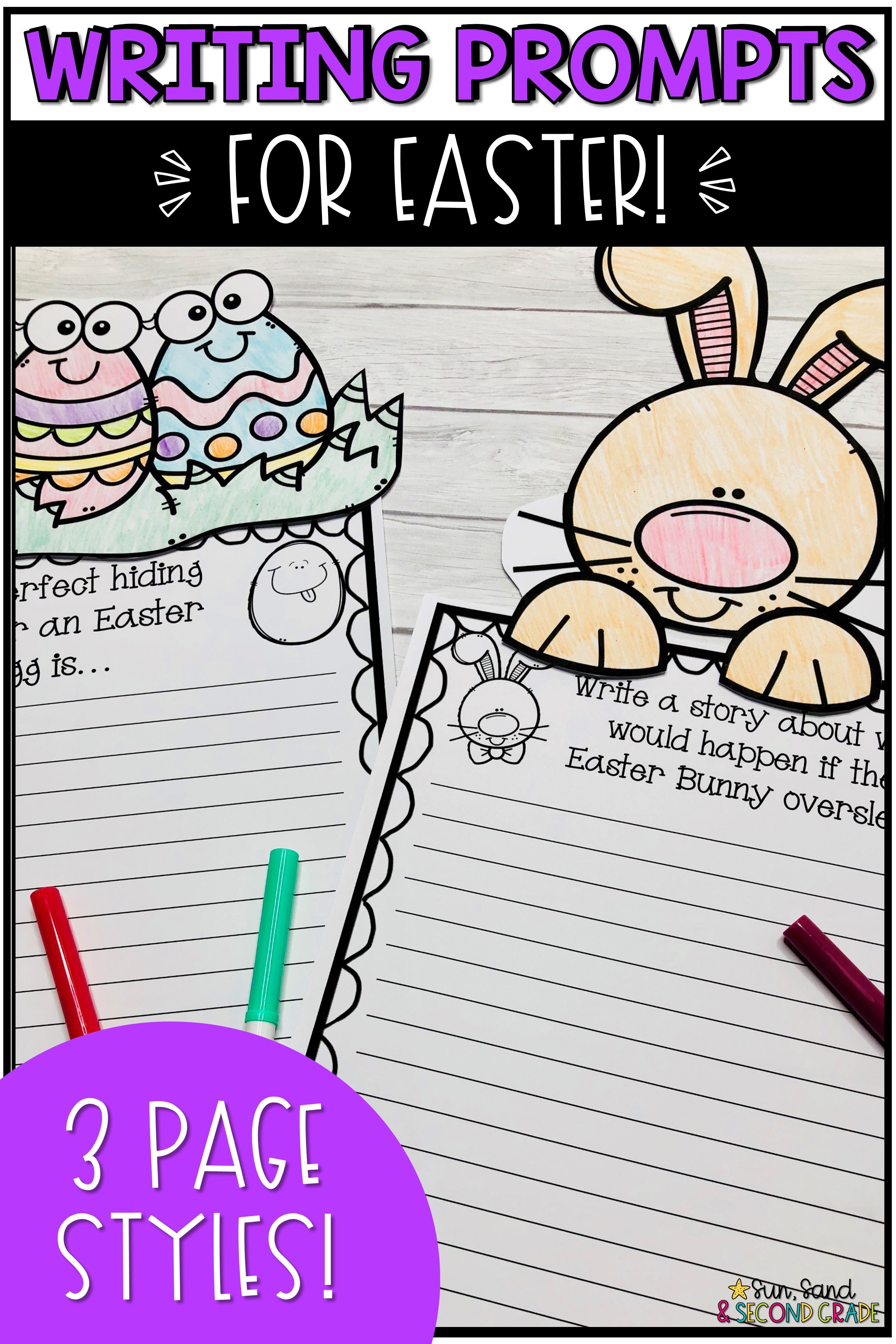 Easter Writing Prompts Amp Page Topper Craftivities