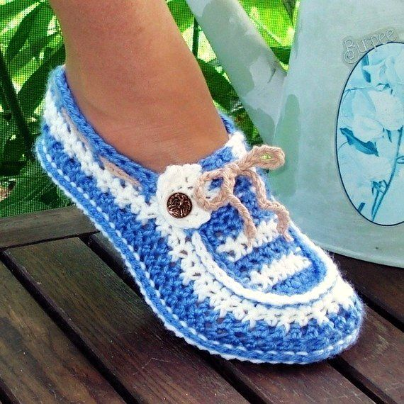 Slippers Crochet Pattern Button Loafers in Adult Sizes PDF 16 ...