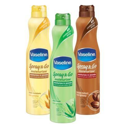 Vaseline Spray & Go Moisturizer Collection
