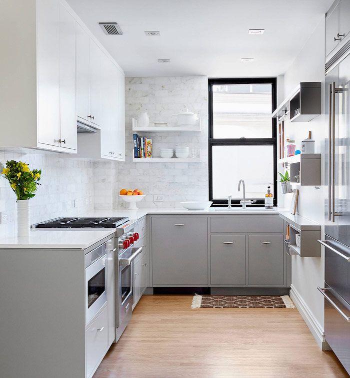 Déco cuisine gris et blanc \u2013 sobre et efficace