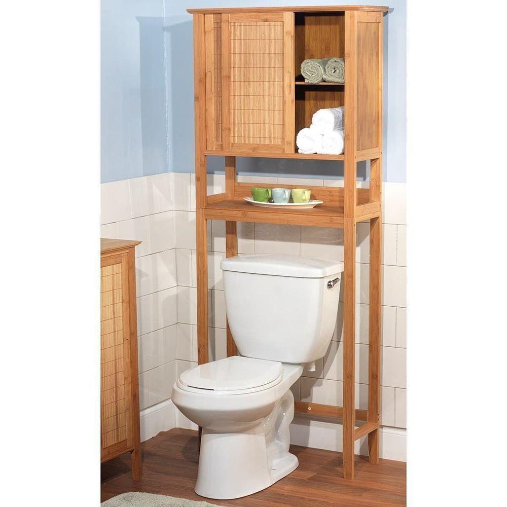 3 Shelf Bathroom Organizer Over The Toilet Spacesaver Towel Paper Shelf Bamboo 3shelfbathroomorganize Bathroom Space Saver Toilet Storage Over Toilet Storage
