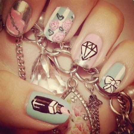 Cute nails.. Girly stuff