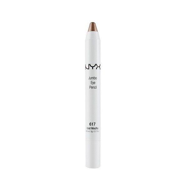NYX Jumbo Eye Pencil - Iced Mocha (39 SEK) ❤ liked on Polyvore featuring beauty products, makeup, eye makeup, eyeliner, iced mocha, nyx, pencil eyeliner, rainbow eyeliner, eye pencil makeup and rainbow eye makeup