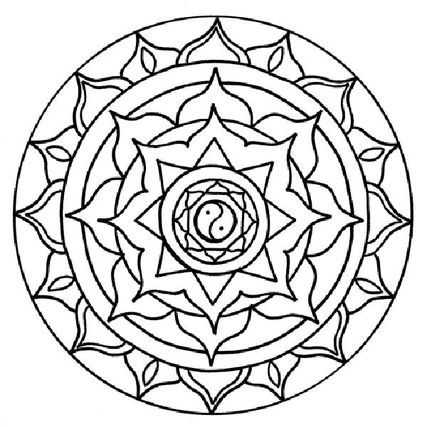 rose mandala coloring pages | New Coloring Pages | Mandala ...