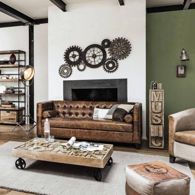 magazine pavimentos vintage industrial pinterest maison du monde industriel et salon. Black Bedroom Furniture Sets. Home Design Ideas
