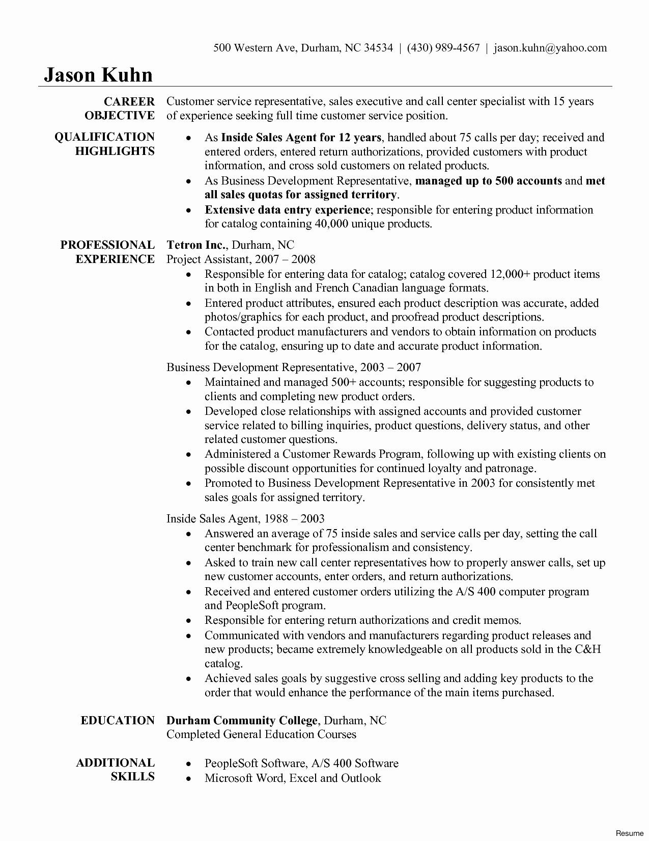 Financial Service Representative Resume Unique 11 12