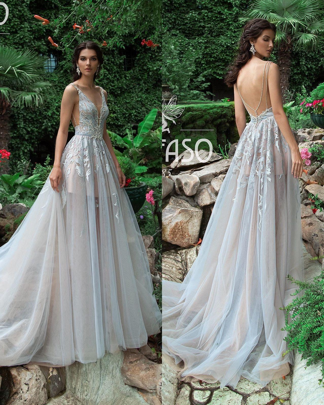 Bohemian aline wedding dresses lace short cap sleeve v