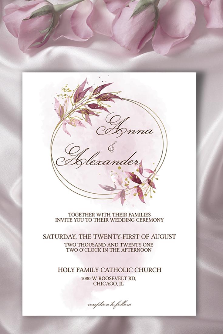 Framed Wedding Invitation Calligraphy Wedding Invitation Etsy Framed Wedding Invitations Etsy Wedding Invitations Wedding Invitation Templates