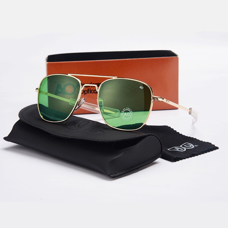 336ca8647ae Fashion Aviation Sunglasses Men Brand Designer Ao Sun Glasses For Male  American