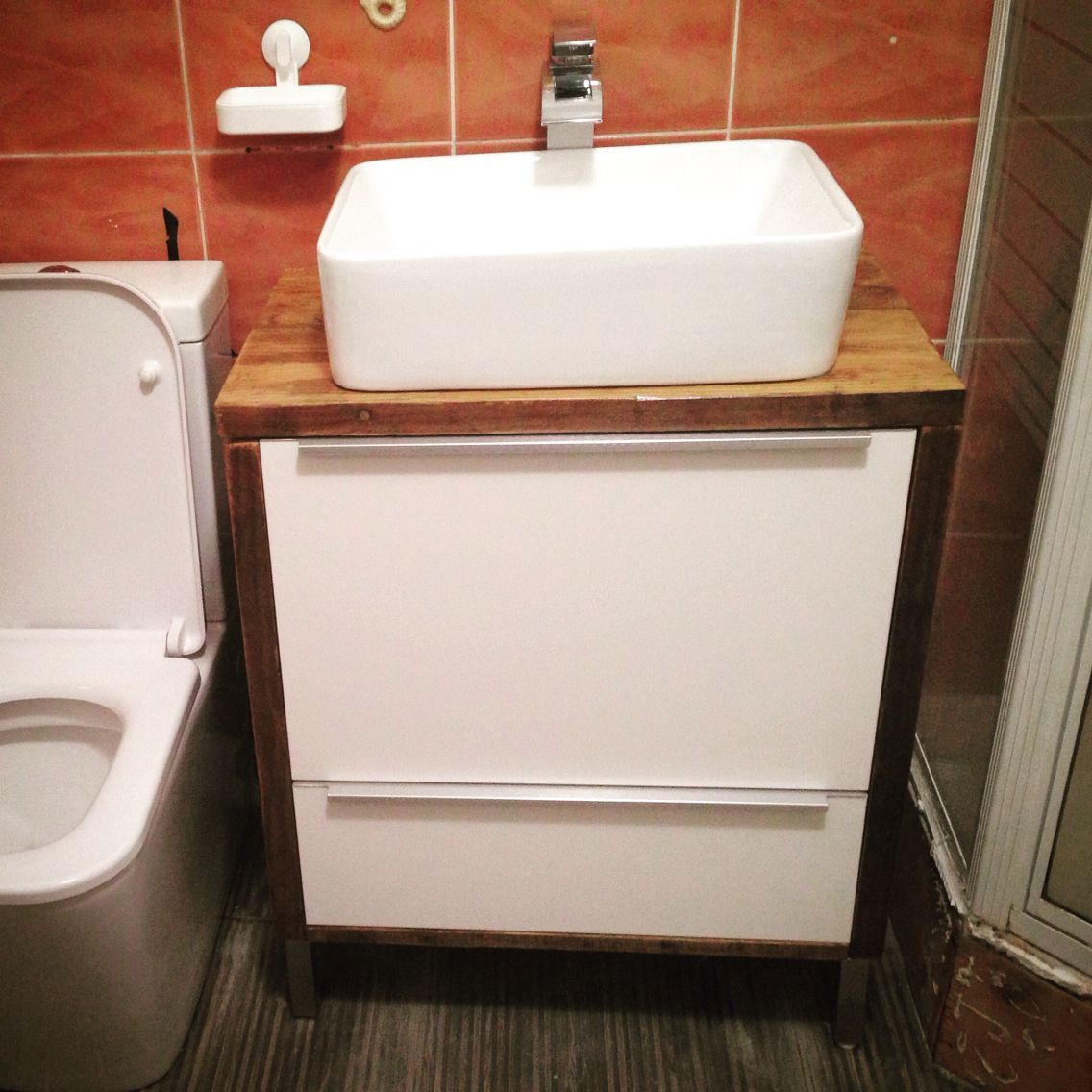 This Is A Metod Ikea Kitchen Cabinet Now Transformed Into A Bathroom Sink Cabinet Ikeahack Badezimmer Bad Baden