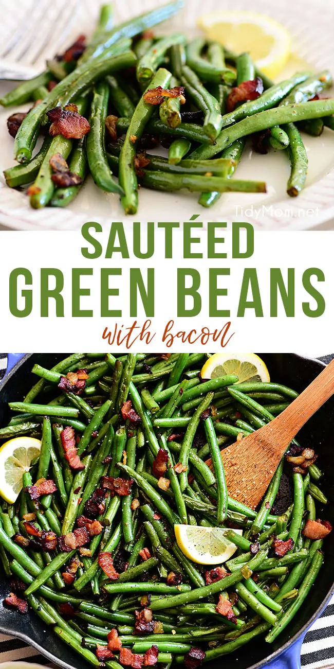 Sautéed Green Beans With Bacon -   19 thanksgiving sides recipes green beans ideas
