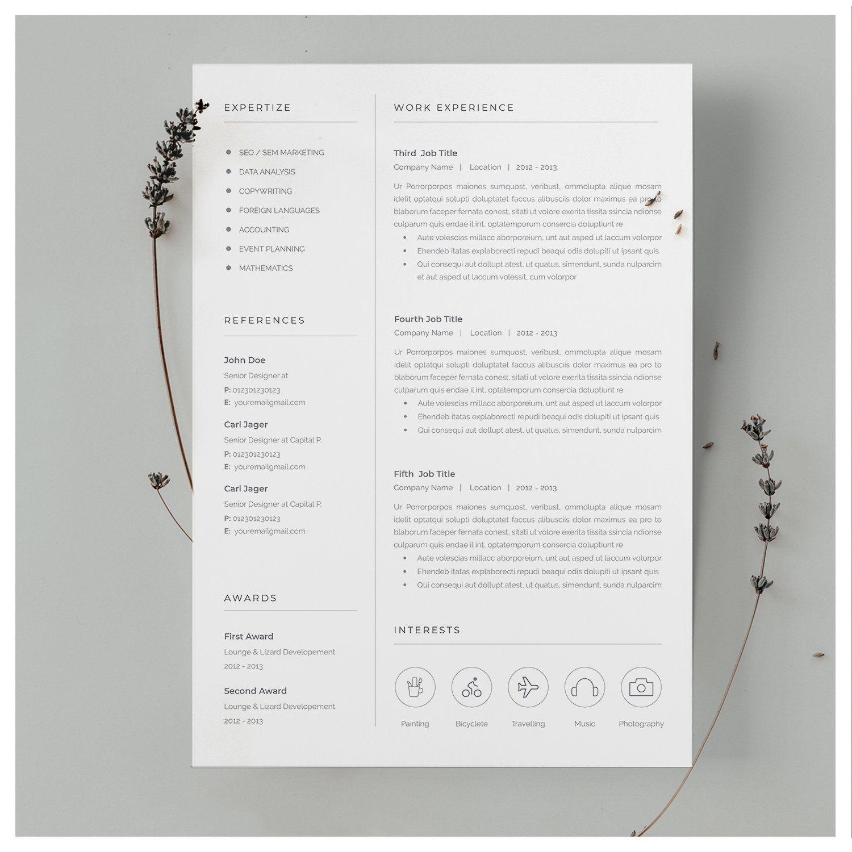 Word Resume Template Resume template, Resume template