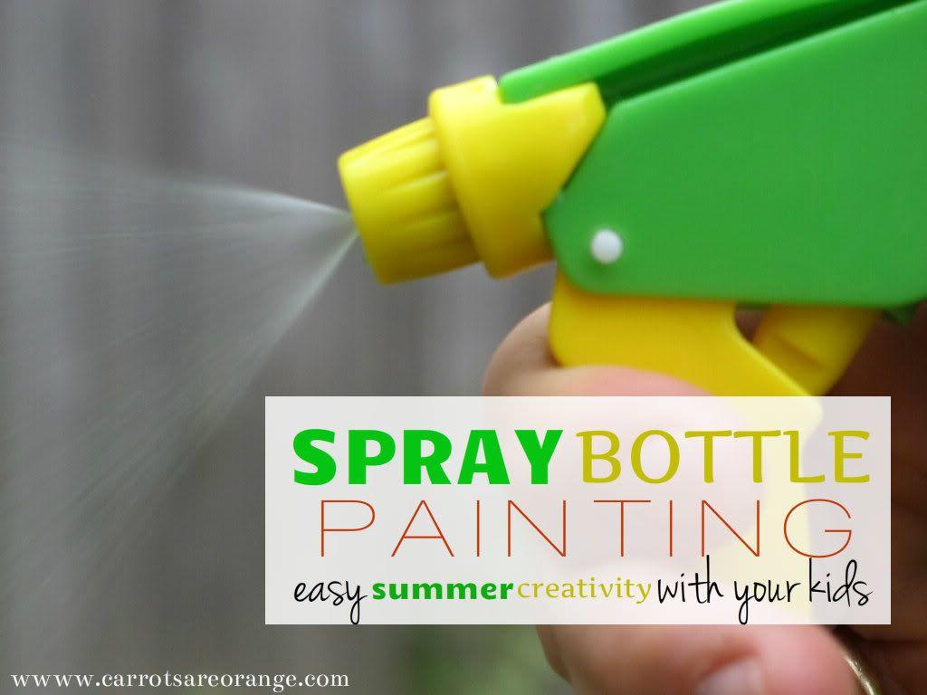 Spray Bottle Painting Easy Summer Art Activity