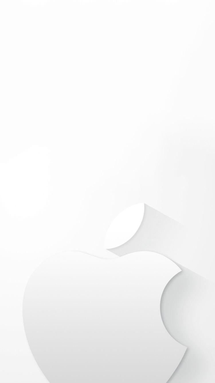 白のミニマルなアップルロゴ Iphone6壁紙 Wallpaperbox Iphone6 壁紙 アップルの壁紙 壁紙 Iphone シンプル