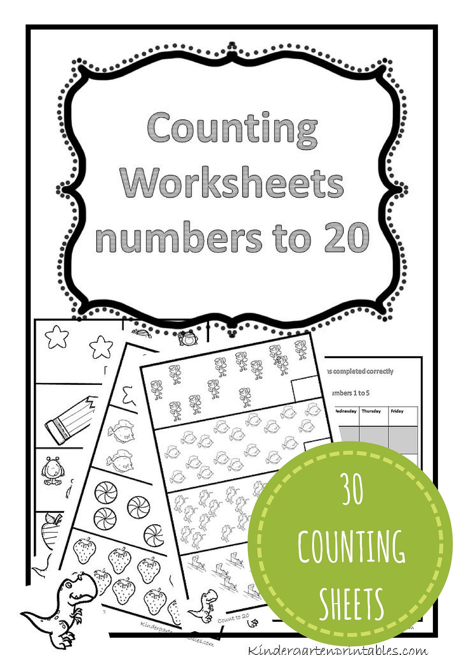 Count And Color 1 20 Worksheets
