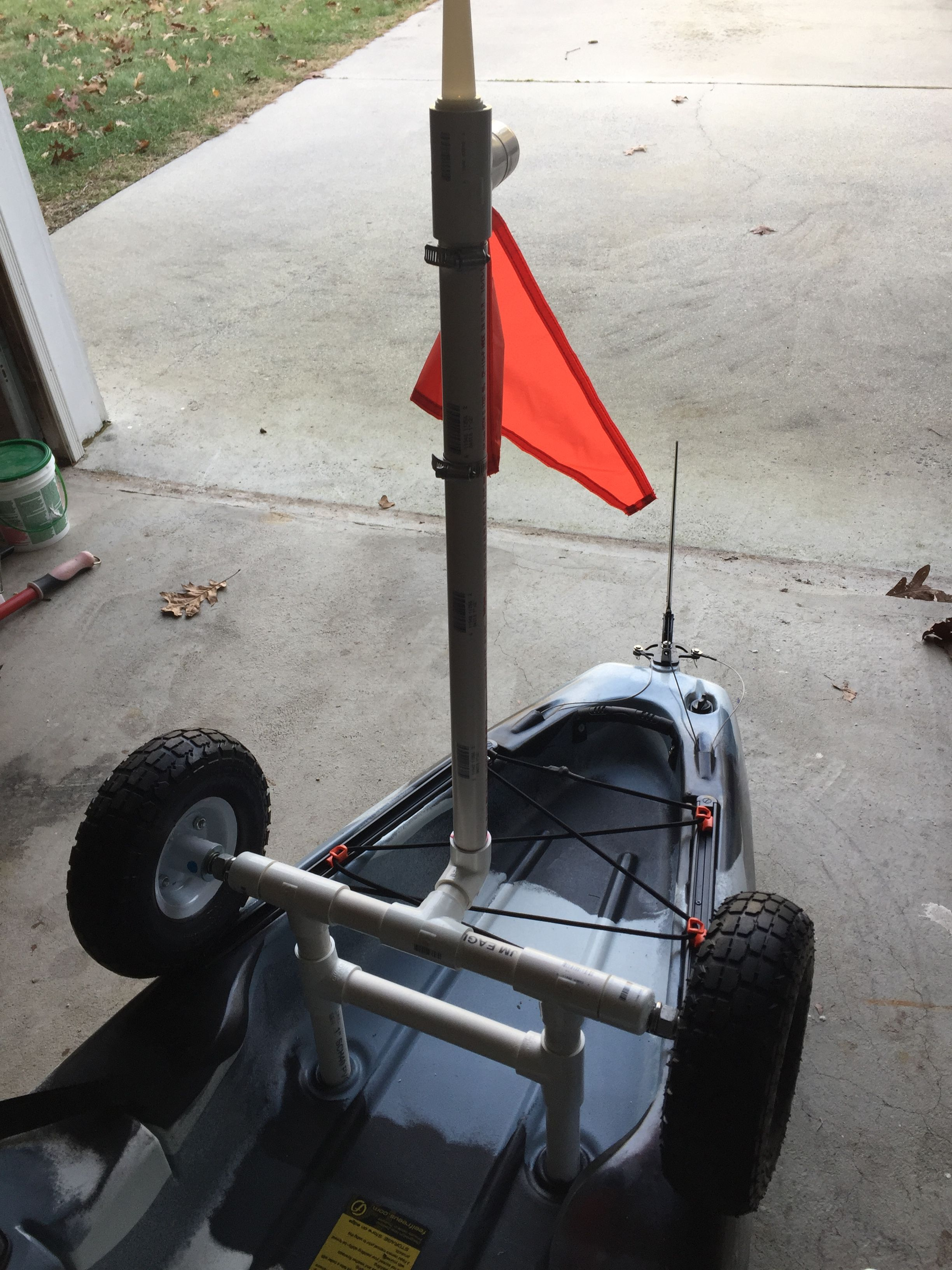 My DIY Kayak Cart With Removable Light And Flag
