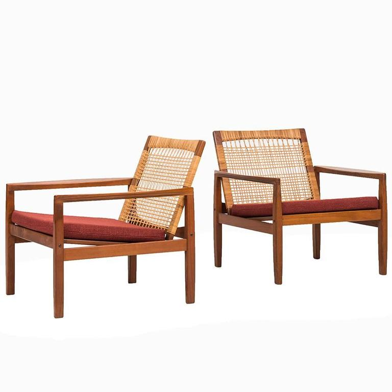 Hans Olsen Easy Chairs Model 519 by Juul Kristensen in Denmark   From a unique collection of antique and modern lounge chairs at https://www.1stdibs.com/furniture/seating/lounge-chairs/