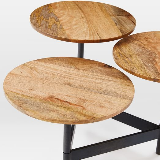 Tiered Circles Coffee Table   Raw Mango | West Elm