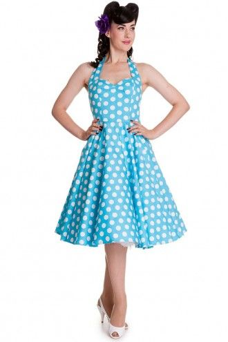 Hell Bunny 50s Mariam Dress Swing Dress Aqua
