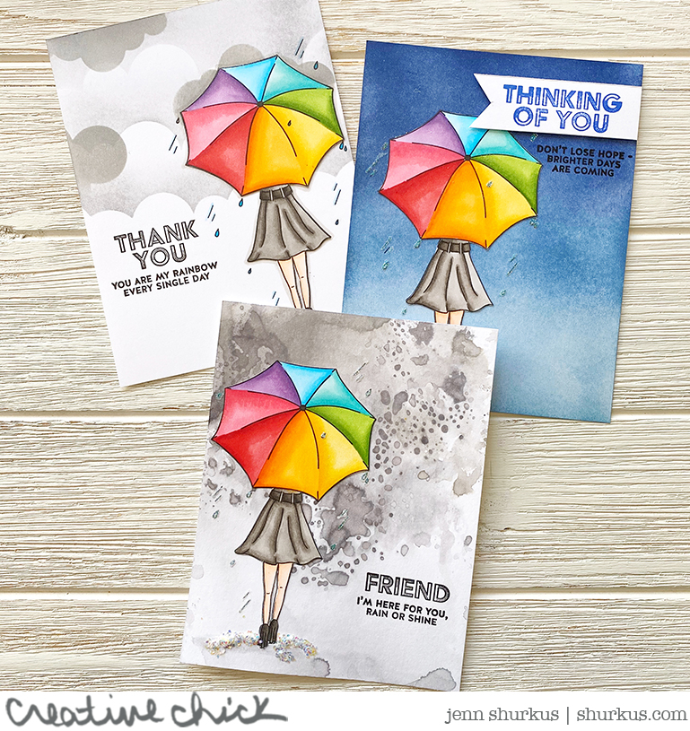 Follow the Rainbows, Simon Says Stamp Card Kit | {creative chick} | shurkus.com #cardkit