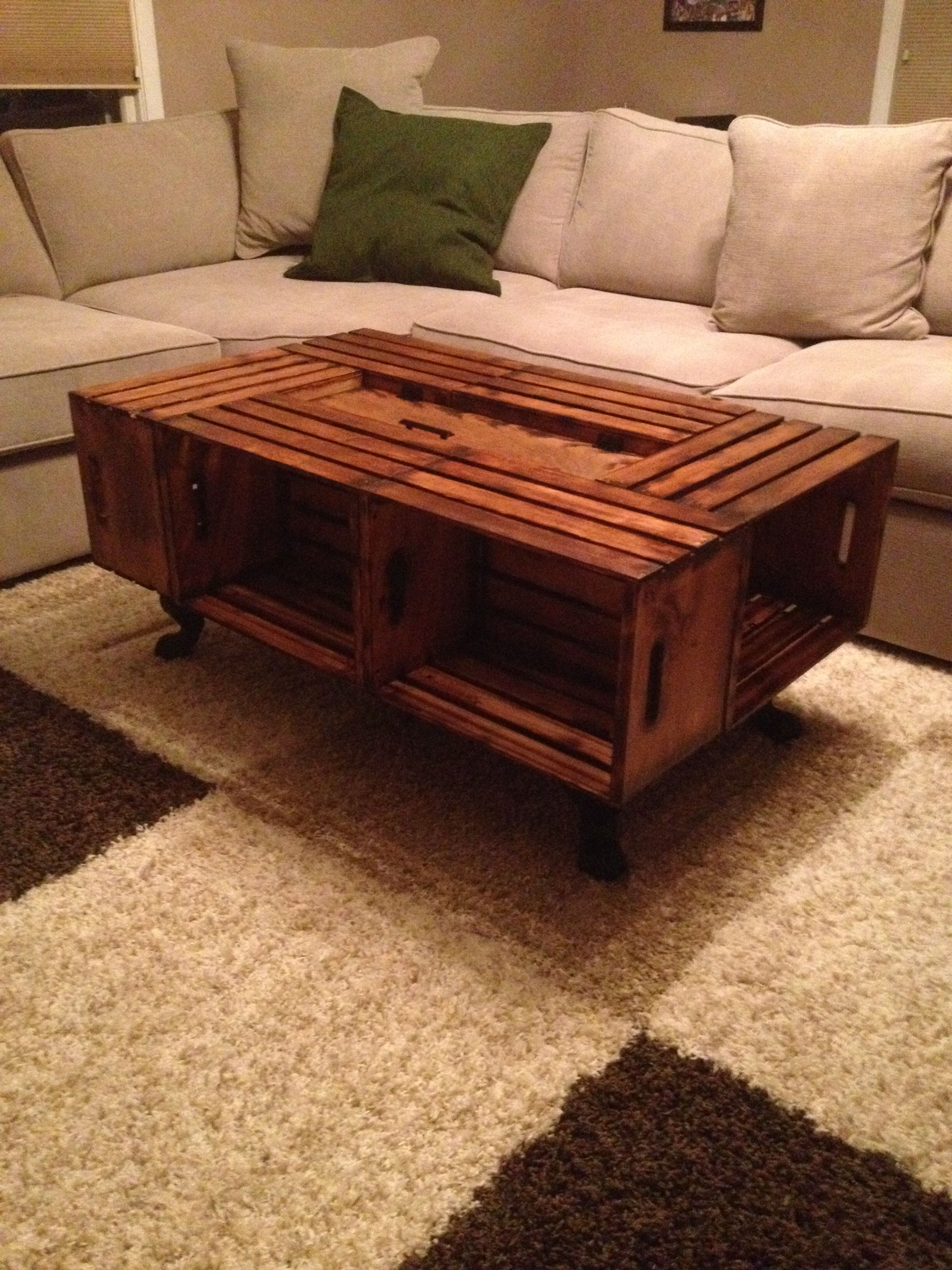 Finished Wine Crate Coffee table, All told it was