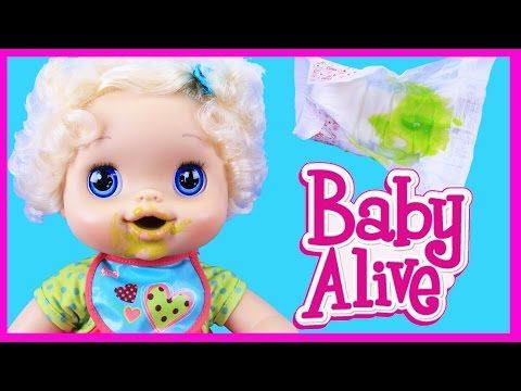 Baby Alive Old School With Big Eyes Eats Baby Food Amp Green