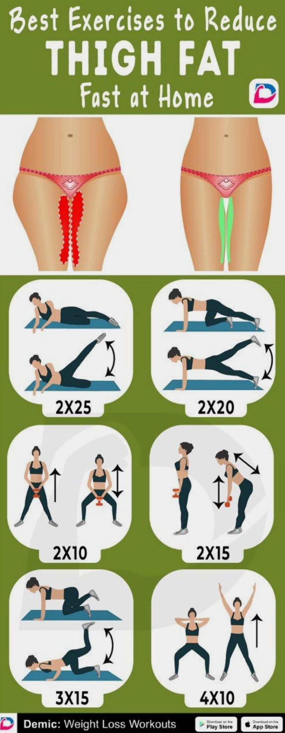 Best Exercises to Reduce THIGH FAT.Click to INSTALL #fitnessexercises