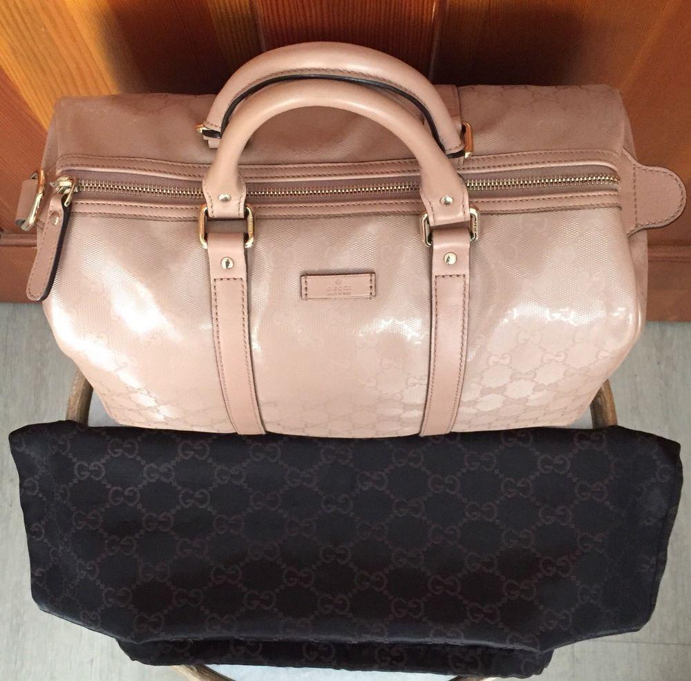 f25df6573394 Gucci Nude Guccissima GG Imprime Joy Boston Handbag Blush Pink Tote Bag