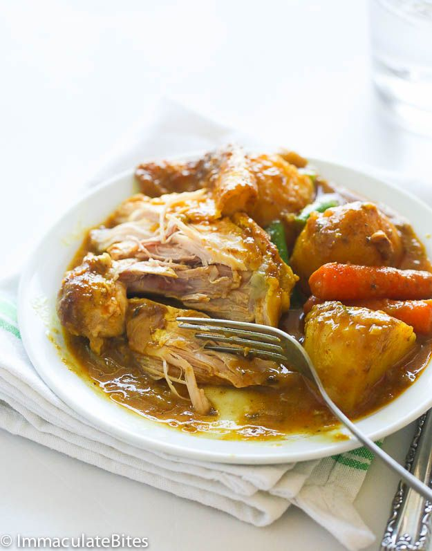 Slow Cooker Jamaican Curry Chicken Recipe Food Glorious Food