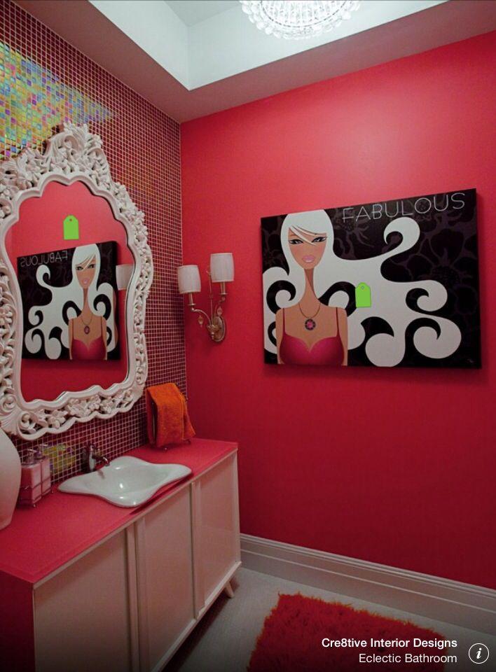 Sassy powder room