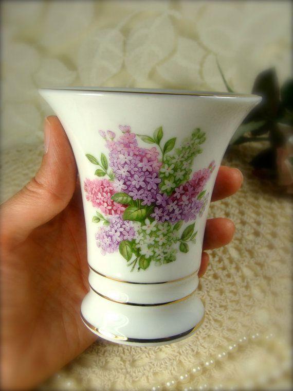 Lilac Time Mini Porcelain Vase by Schumann by TinyandBeautiful