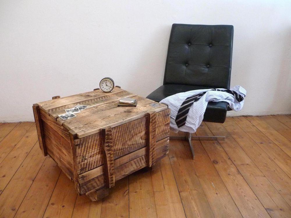 couchtisch industriedesign berseekiste tisch loft m bel holz vintage shabby ben mattis. Black Bedroom Furniture Sets. Home Design Ideas