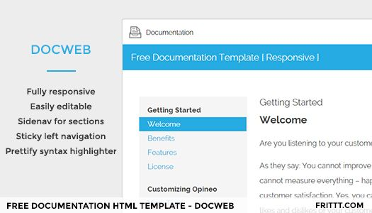 Free Documentation HTML Template Best HTML Templates Html