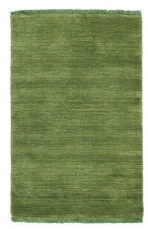 Handloom fringes - Dark Green-matto 60x90