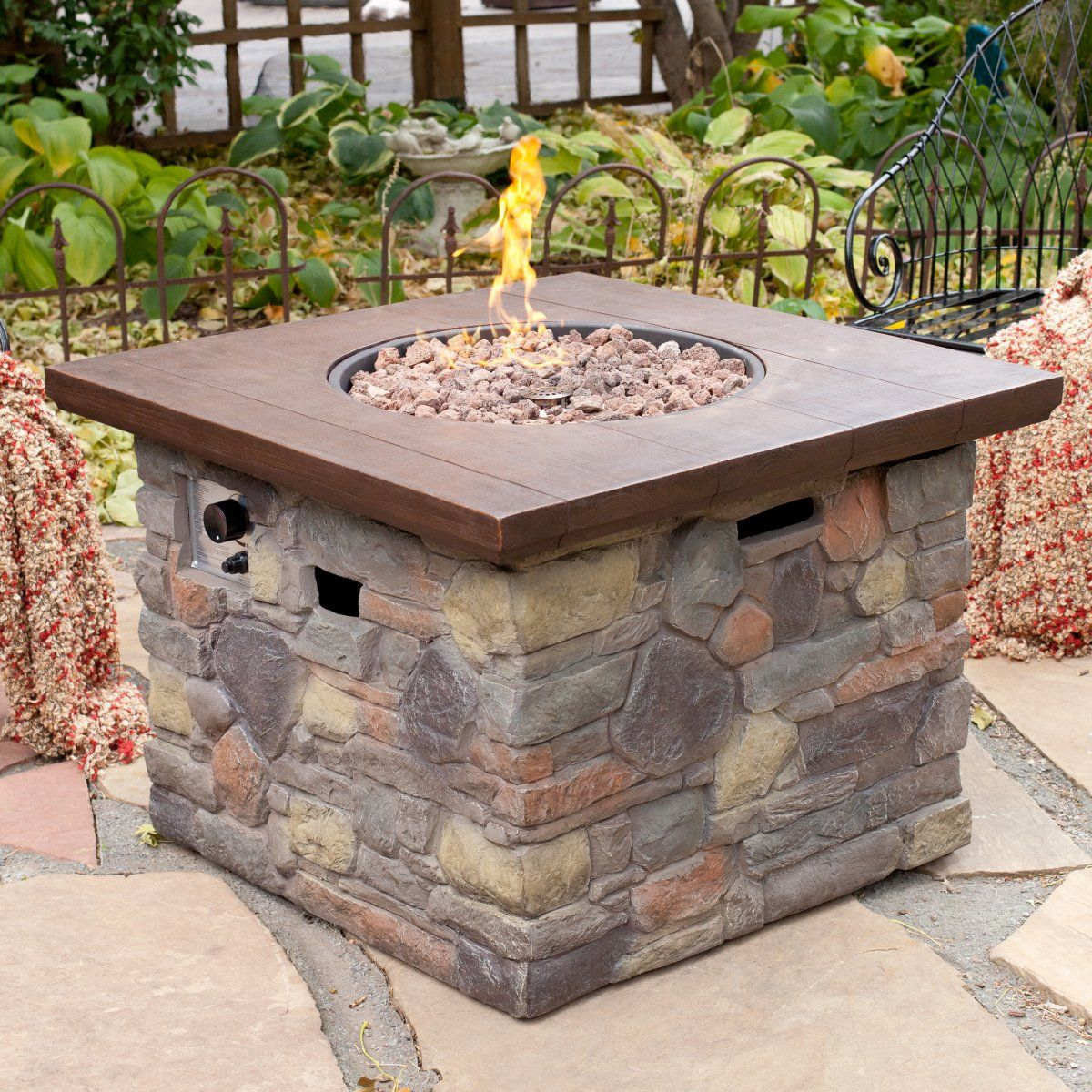 Bond Galiano Propane Fire Pit Table Outdoor Decorating