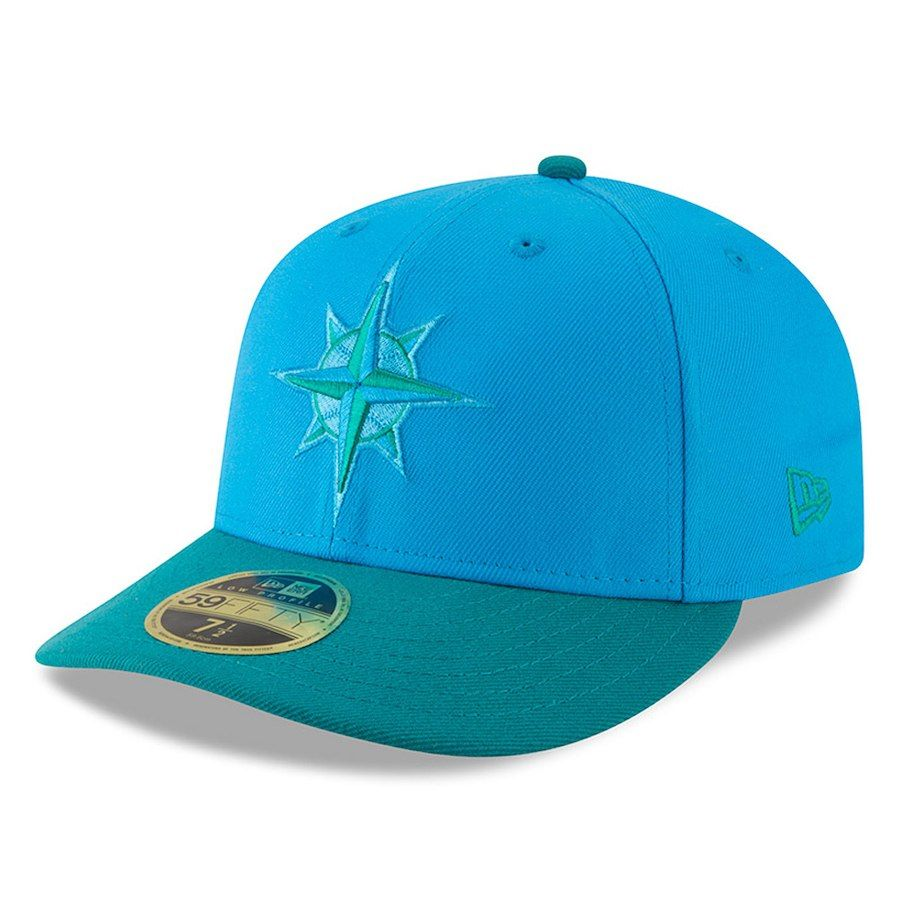 official photos 6208e 00670 Men s Seattle Mariners New Era Blue Green 2018 Players  Weekend Low Profile  59FIFTY Fitted Hat, Sale   21.59 - You Save   14.40