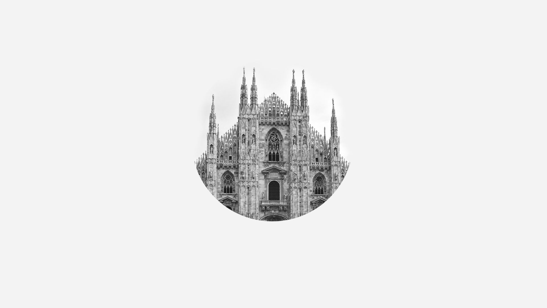 Duomo Milan Minimalist [1920×1080] Need #iPhone #6S #Plus #Wallpaper/ #Backgroun… 4K