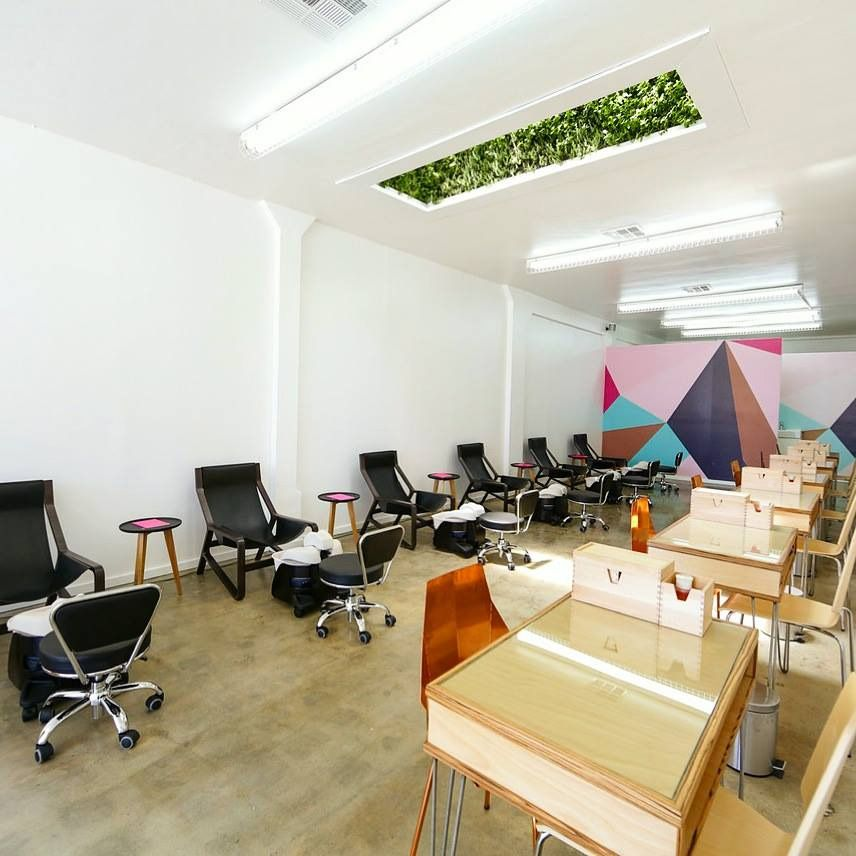 Custom Furniture For Enamel Diction Nail Salon Los Angeles
