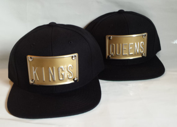KINGS and QUEENS black snapback kings queens hat can custom any word king s  queen s king b queen b aa0c3bdae431