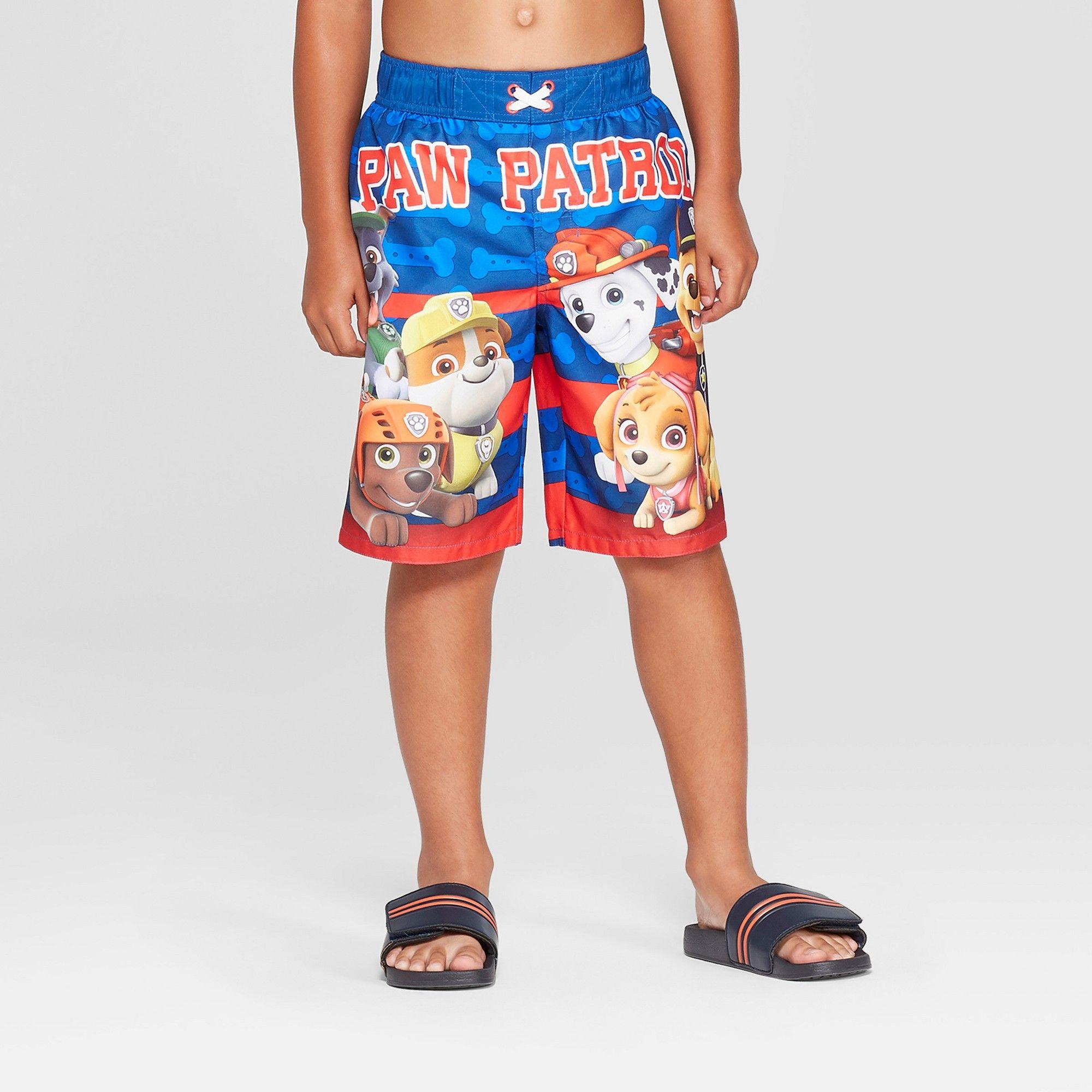Paw Patrol Boys Swimwear Swim Trunks