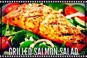 Grilled salmon salad   Una cucina da single   Pinterest   Grilled ...