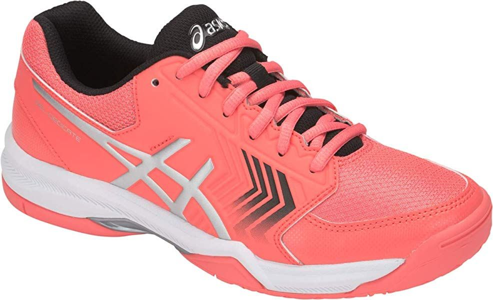 White Sports Breathable Lightweight Asics Womens Gel-Dedicate 6 Tennis Shoes