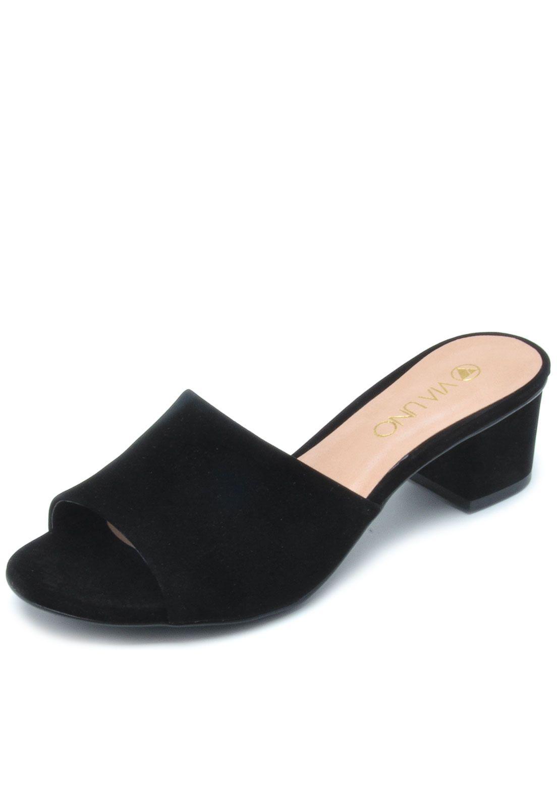 15698bdca Tamanco VIA UNO Liso Preto | Sapatos | Sapatos e Preto